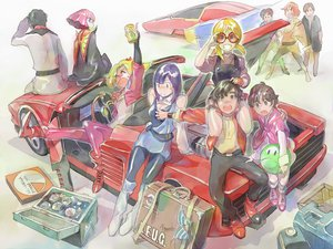 Rating: Safe Score: 40 Tags: apron beecha_oleg black_hair blonde_hair boots bra breast_grab bright_noa brown_eyes brown_hair car drink elle_vianno elpeo_puru gloves goggles group gundam_zz haman_karn haro ino_abbav judau_ashta leina_ashta mobile_suit_gundam mondo_agake orange_hair pink_hair purple_eyes purple_hair risa_hibiki roux_louka short_hair underwear wristwear User: opai