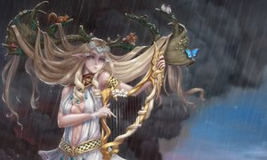 Rating: Safe Score: 16 Tags: animal butterfly cropped horns instrument long_hair original rain tagme_(artist) water User: kyxor
