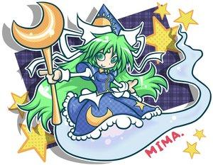 Rating: Safe Score: 24 Tags: green_eyes green_hair jpeg_artifacts long_hair mima scythe touhou weapon User: FlandreScarlet