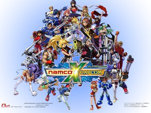 Rating: Safe Score: 55 Tags: animal_ears capcom captain_commando catgirl chun-li darkstalkers demitri_maximoff felicia group gun jpeg_artifacts ken_masters klonoa kos-mos logo morrigan_aensland namco_x_capcom rockman roll_caskett ryuu_(street_fighter) sir_arthur soul_calibur street_fighter strider_hiryu sword tagme tagme_(character) tail taki watermark weapon xenosaga User: WhiteExecutor