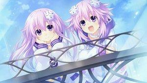 Rating: Safe Score: 80 Tags: game_cg hyperdimension_neptunia nepgear neptune tsunako User: mattiasc02