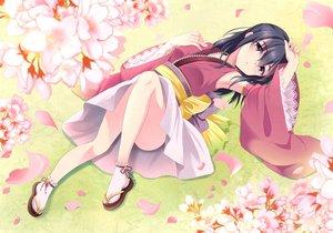 Rating: Safe Score: 148 Tags: cherry_blossoms flowers fujiwara_hajime idolmaster idolmaster_cinderella_girls japanese_clothes kyu petals User: opai