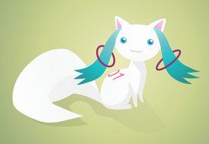 Rating: Safe Score: 27 Tags: animal blue_eyes cat_smile hatsune_miku kyuubee mahou_shoujo_madoka_magica parody tail tattoo vocaloid User: Black_Rock_Shooter