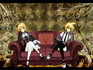 Rating: Safe Score: 24 Tags: couch kagamine_len kagamine_rin male vocaloid User: HawthorneKitty