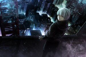 Rating: Safe Score: 163 Tags: all_male angel31424 building city kaneki_ken male night rooftop tokyo_ghoul User: FormX