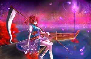 Rating: Safe Score: 56 Tags: onozuka_komachi scythe tagme_(artist) touhou weapon User: Tensa