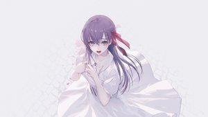 Rating: Safe Score: 64 Tags: dress fate_(series) fate/stay_night long_hair matou_sakura purple_eyes purple_hair ribbons wanke white User: RyuZU