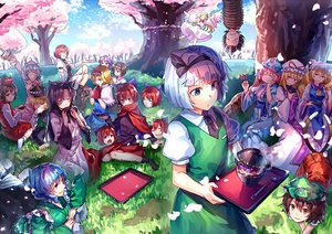 Rating: Safe Score: 88 Tags: alice_margatroid animal_ears catgirl chen cherry_blossoms dress drink fairy flowers food foxgirl grass group hat horikawa_raiko imaizumi_kagerou japanese_clothes kijin_seija konpaku_youmu lily_white lunasa_prismriver lyrica_prismriver merlin_prismriver multiple_tails sekibanki short_hair sukuna_shinmyoumaru tail touhou tree uu_uu_zan wakasagihime wings yakumo_ran yakumo_yukari User: Flandre93