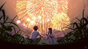 Rating: Safe Score: 23 Tags: building city clouds dress fireworks grass long_hair male mocha_(cotton) night original short_hair signed sky summer summer_dress User: otaku_emmy