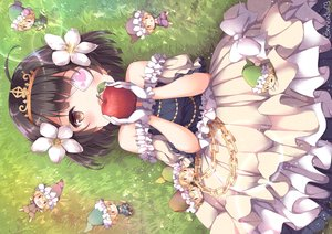 Rating: Safe Score: 48 Tags: apple black_hair blush bow brown_eyes chain chibi dress eyepatch flowers food fruit gloves grass group loli lolita_fashion niwasane_(saneatsu03) short_hair signed snow_white snow_white_and_the_seven_dwarfs tiara User: BattlequeenYume