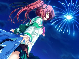 Rating: Safe Score: 47 Tags: fireworks game_cg long_hair magus_tale night ponytail red_hair school_uniform seera_finis_victoria tenmaso whirlpool User: Oyashiro-sama