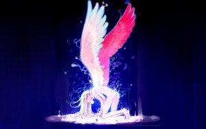 Rating: Safe Score: 94 Tags: angel blonde_hair blue fairy littlewitch long_hair nude oyari_ashito wings User: Oyashiro-sama