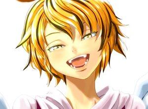 Rating: Safe Score: 16 Tags: blonde_hair fang shiba_itsuki short_hair toramaru_shou touhou yellow_eyes User: PAIIS