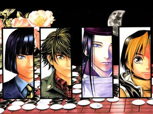 Rating: Safe Score: 0 Tags: all_male fujiwara_no_sai hikaru_no_go male shindou_hikaru tagme_(character) touya_akira User: Oyashiro-sama