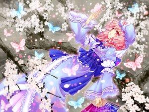 Rating: Safe Score: 5 Tags: butterfly cherry_blossoms fan saigyouji_yuyuko touhou User: Tensa
