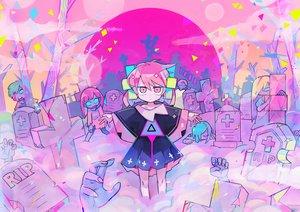 Rating: Safe Score: 24 Tags: cross dress moon original pink_eyes pink_hair polychromatic teracoot User: otaku_emmy