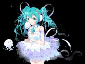 Rating: Safe Score: 30 Tags: aqua_eyes aqua_hair black dress hatsune_miku long_hair makaroni_(yudejiru) twintails vocaloid User: RyuZU