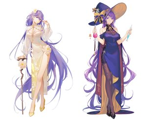 Rating: Safe Score: 73 Tags: bow breasts cape chinese_clothes chinese_dress cleavage cosplay dress flowers hat long_hair mo_qingxian pantyhose purple_eyes purple_hair see_through staff tidsean vocaloid vsinger witch witch_hat User: otaku_emmy