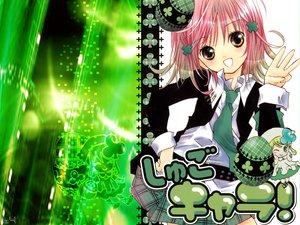 Rating: Safe Score: 46 Tags: green hinamori_amu jpeg_artifacts peach-pit pink_hair school_uniform short_hair shugo_chara suu_(shugo_chara) tie yellow_eyes User: Oyashiro-sama