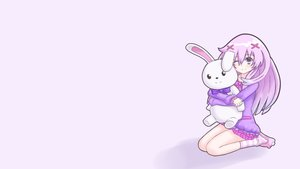 Rating: Safe Score: 61 Tags: bunny doll hyperdimension_neptunia hyperdimension_neptunia_mk2 nepgear nepples purple_eyes purple_hair ribbons socks third-party_edit User: Dummy