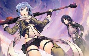 Rating: Safe Score: 524 Tags: gun gun_gale_online hinasaki kirigaya_kazuto shinon_(sao) sword_art_online weapon User: Wiresetc