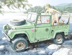 Rating: Safe Score: 15 Tags: animal bikini combat_vehicle dog jetbrick original signed swimsuit water User: RyuZU