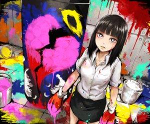 Rating: Safe Score: 42 Tags: black_eyes black_hair gloves original short_hair skirt yajirushi_(chanoma) User: RyuZU