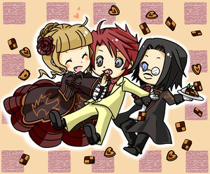 Rating: Safe Score: 16 Tags: beatrice chibi ronove umineko_no_naku_koro_ni ushiromiya_battler User: HawthorneKitty