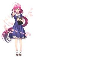 Rating: Safe Score: 131 Tags: bicolored_eyes cross dress gakkou_gurashi! long_hair necklace petals pink_hair ponytail sakura_megumi tagme_(artist) white User: Yuki-Yozora