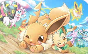 Rating: Safe Score: 25 Tags: clouds eevee espeon flareon glaceon grass group jolteon leafeon nobody pokemon sky sylveon umbreon vaporeon wataametulip User: otaku_emmy