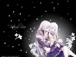 Rating: Safe Score: 26 Tags: black flowers long_hair purple_eyes snow sumi_keiichi white_hair User: Oyashiro-sama