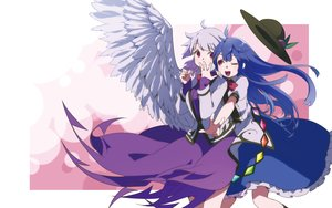 Rating: Safe Score: 54 Tags: 2girls hinanawi_tenshi kishin_sagume namauni touhou User: FormX