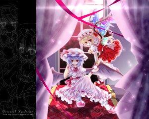 Rating: Safe Score: 27 Tags: 2girls capura_lin flandre_scarlet remilia_scarlet touhou vampire User: Oyashiro-sama