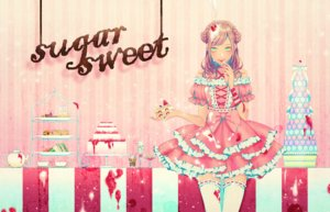 Rating: Safe Score: 11 Tags: cake dress food fruit lolita_fashion ohagi_(ymnky) original strawberry thighhighs User: FormX