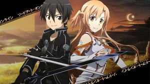 Rating: Safe Score: 153 Tags: kirigaya_kazuto sword sword_art_online tagme weapon yuuki_asuna User: Lenz0