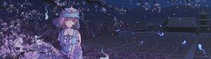 Rating: Safe Score: 69 Tags: aqua_hair cherry_blossoms dress dualscreen flowers hat kujira-kousen miyako_yoshika night petals pink_eyes pink_hair purple_hair saigyouji_yuyuko short_hair skirt tatara_kogasa touhou tree User: minabiStrikesAgain