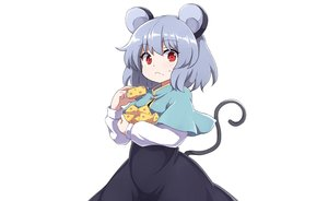 Rating: Safe Score: 39 Tags: animal_ears cape dress food gray_hair mousegirl nazrin red_eyes rizento short_hair tail touhou white User: otaku_emmy