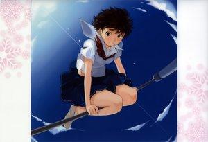 Rating: Safe Score: 18 Tags: kimikiss satonaka_narumi school_uniform short_hair takayama_kisai User: Wiresetc