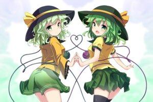 Rating: Safe Score: 37 Tags: green_eyes green_hair hat komeiji_koishi ryougo short_hair skirt thighhighs touhou User: RyuZU