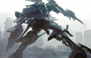 Rating: Safe Score: 161 Tags: anjou armored_core armored_core_4 kawanakajima mecha orleans ruins tagme User: opai