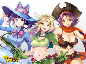 Rating: Safe Score: 23 Tags: animal_ears aqua_eyes blonde_hair blush bow breasts cape cleavage crusader_attack green_eyes gun hat logo long_hair navel orange_eyes pirate pointed_ears purple_hair retsuna scarf short_hair tagme_(character) twintails weapon white User: RyuZU