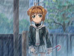 Rating: Safe Score: 31 Tags: card_captor_sakura crying kinomoto_sakura moonknives rain school_uniform water User: 秀悟