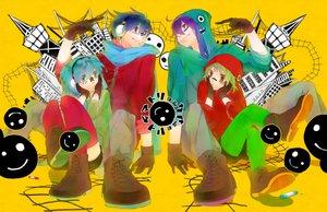 Rating: Safe Score: 47 Tags: group gumi hatsune_miku kaito kamui_gakupo male matryoshka_(vocaloid) toma3 vocaloid User: FormX
