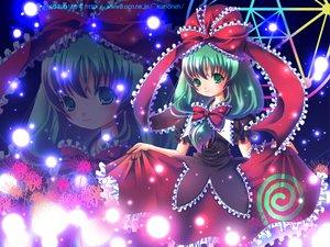Rating: Safe Score: 6 Tags: dress green_eyes green_hair imeri_fuzuki kagiyama_hina long_hair ribbons touhou zoom_layer User: 秀悟
