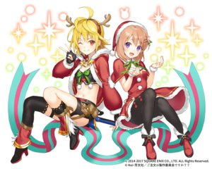 Rating: Safe Score: 27 Tags: 2girls blonde_hair bow brown_hair christmas crossover dress gloves gochuumon_wa_usagi_desu_ka? hat horns hoto_cocoa kaku-san-sei_million_arthur navel pantyhose purple_eyes red_eyes ribbons short_hair shorts square_enix thighhighs tokki watermark User: BattlequeenYume