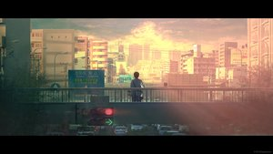 Rating: Safe Score: 36 Tags: all_male building car city landscape male original photo scenic sunset tanaka_ryosuke watermark User: Flandre93