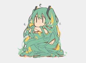 Rating: Safe Score: 25 Tags: chibi gray green_eyes green_hair hatsune_miku kitsune_no_ko long_hair nude twintails vocaloid watermark User: otaku_emmy