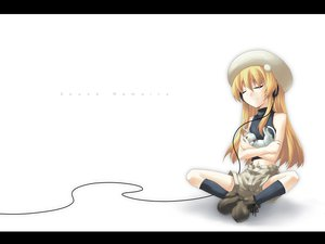 Rating: Safe Score: 32 Tags: animal blonde_hair cat hat headphones long_hair socks white User: 秀悟