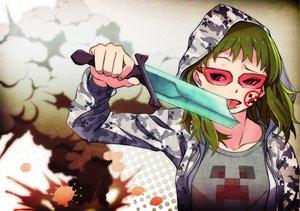 Rating: Safe Score: 130 Tags: crossover gumi hoodie kazufumi_(kaz-newt) minecraft vocaloid User: HawthorneKitty