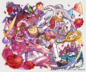 Rating: Safe Score: 35 Tags: alice_in_wonderland animal_ears anthropomorphism blush braids bunny_ears bunnygirl cake candy chain cheshire_cat chocolate collar flowers food gray_eyes long_hair nou queen_of_hearts red_eyes rose shorts shoumetsu_toshi tears thighhighs twintails watermark white_rabbit zettai_ryouiki User: otaku_emmy